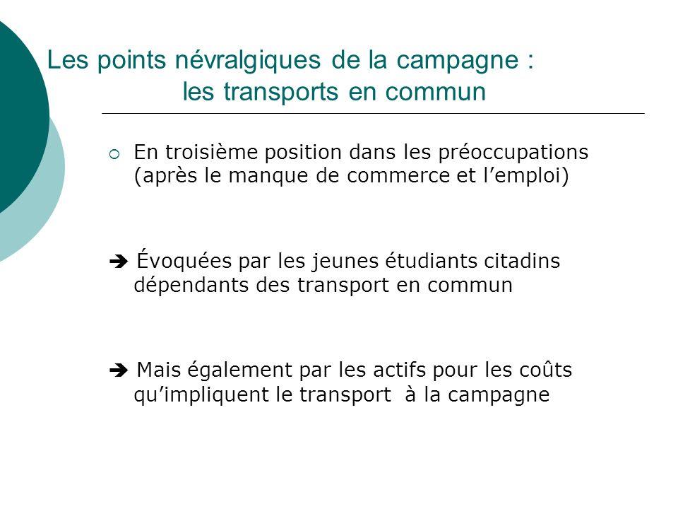 Les points névralgiques de la campagne : les transports en commun