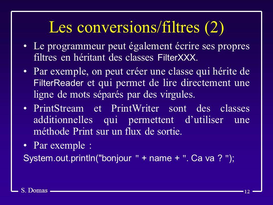 Les conversions/filtres (2)