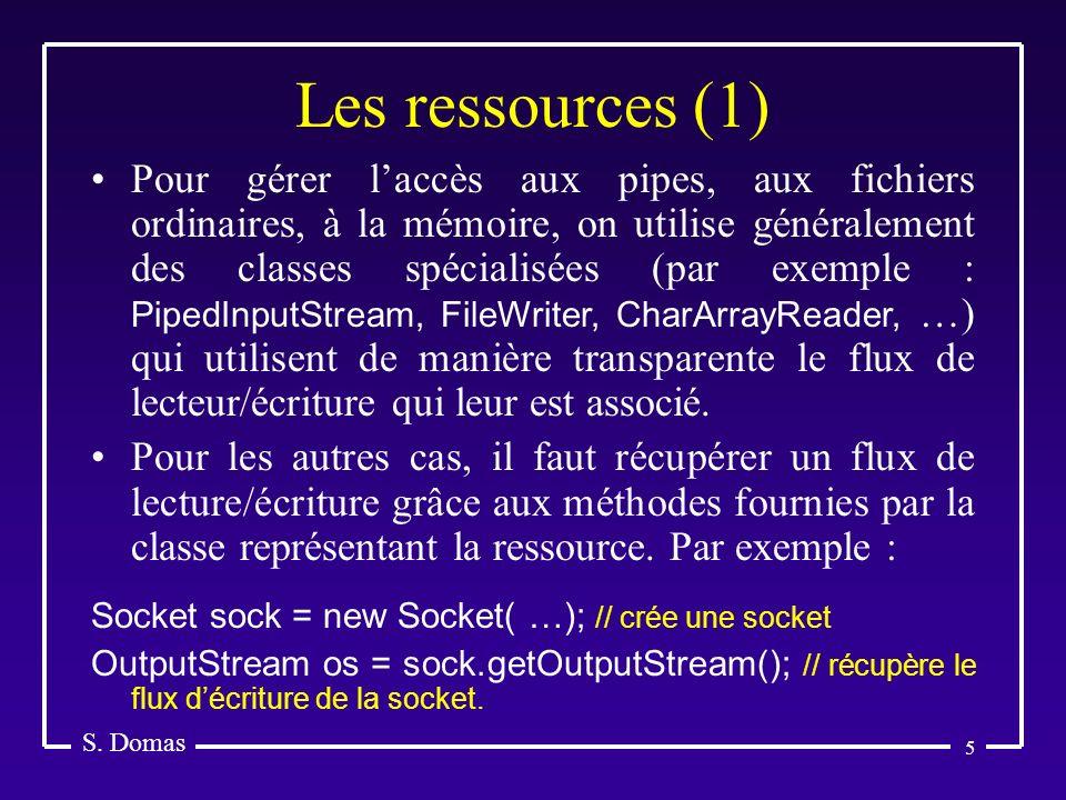 Les ressources (1) S. Domas.