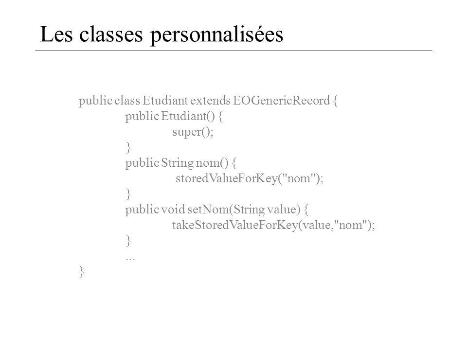 Les classes personnalisées
