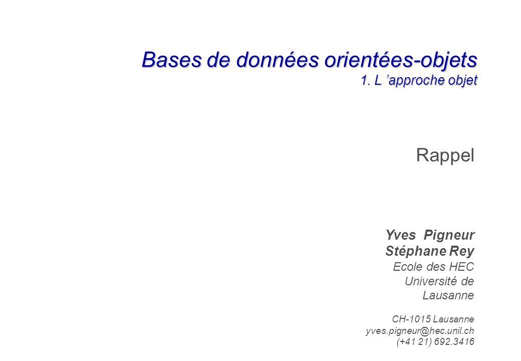 Bases de données orientées-objets