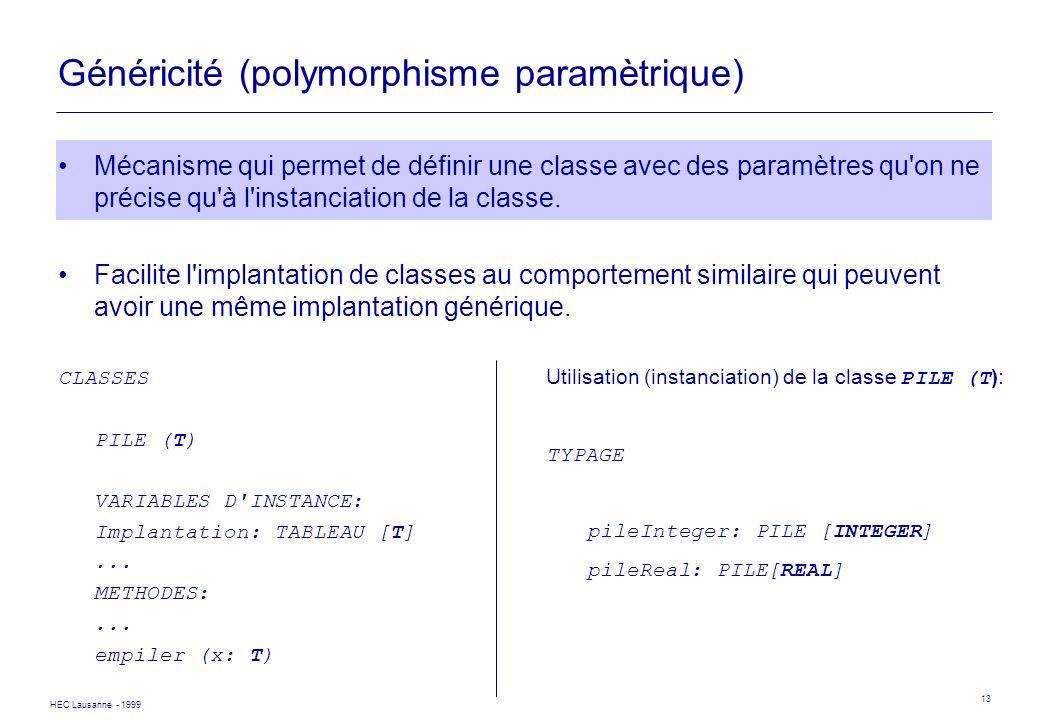 Généricité (polymorphisme paramètrique)