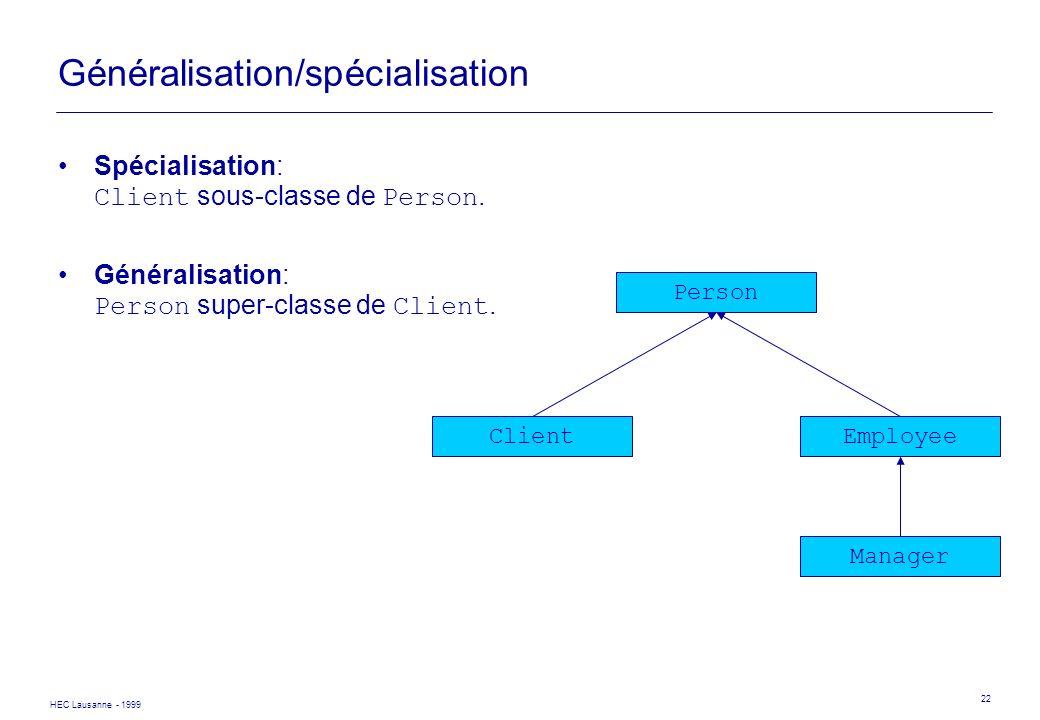 Généralisation/spécialisation