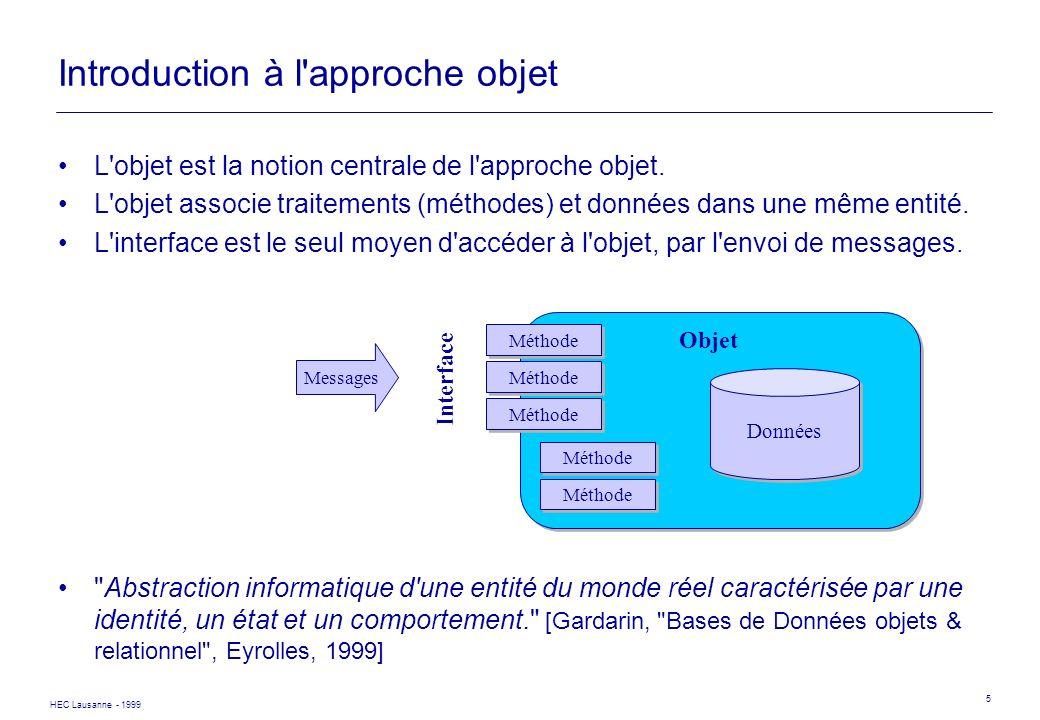 Introduction à l approche objet