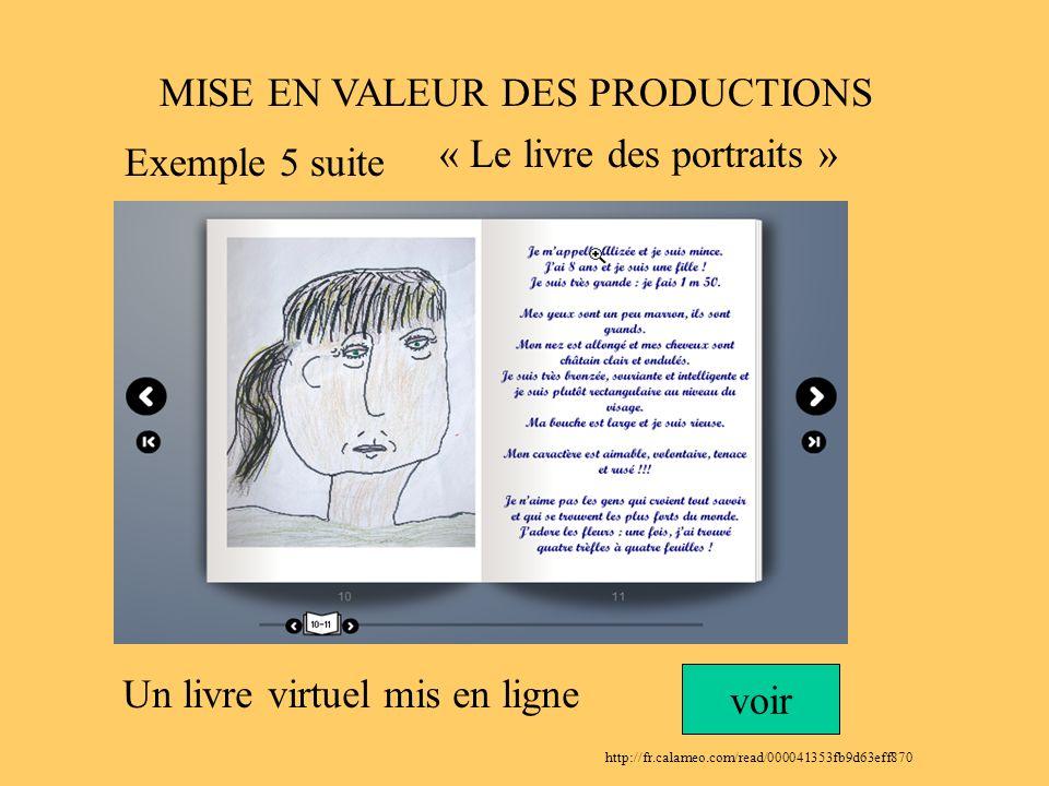 MISE EN VALEUR DES PRODUCTIONS