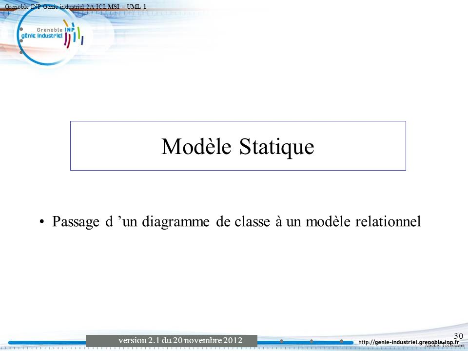 Grenoble INP Génie industriel 2A ICL MSI – UML 1