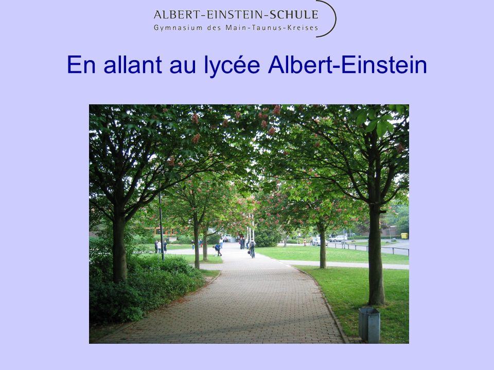 En allant au lycée Albert-Einstein