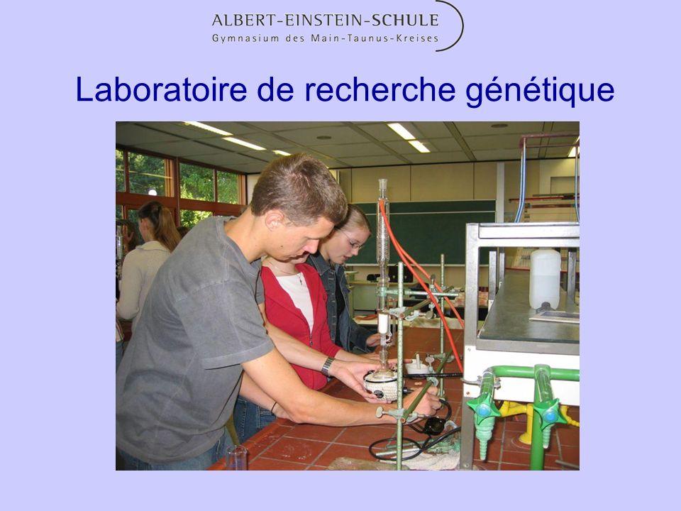 Laboratoire de recherche génétique