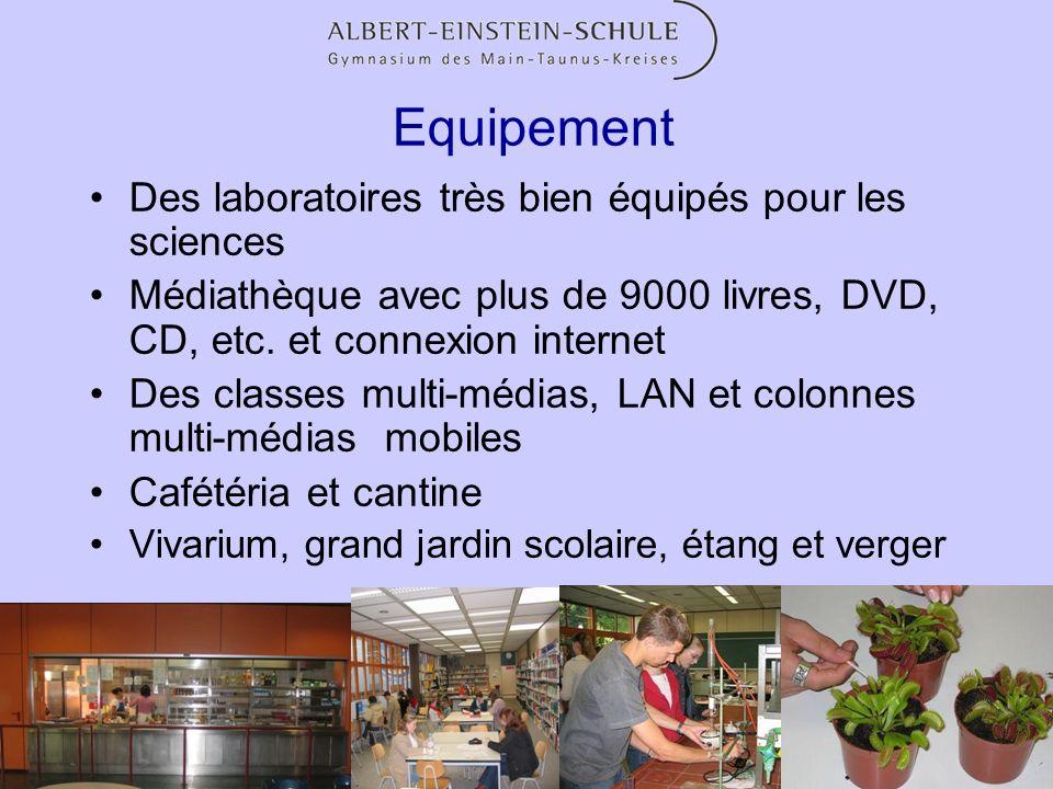 Equipement Des laboratoires très bien équipés pour les sciences