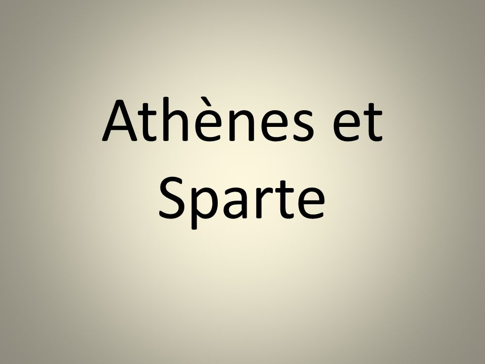 Athènes et Sparte