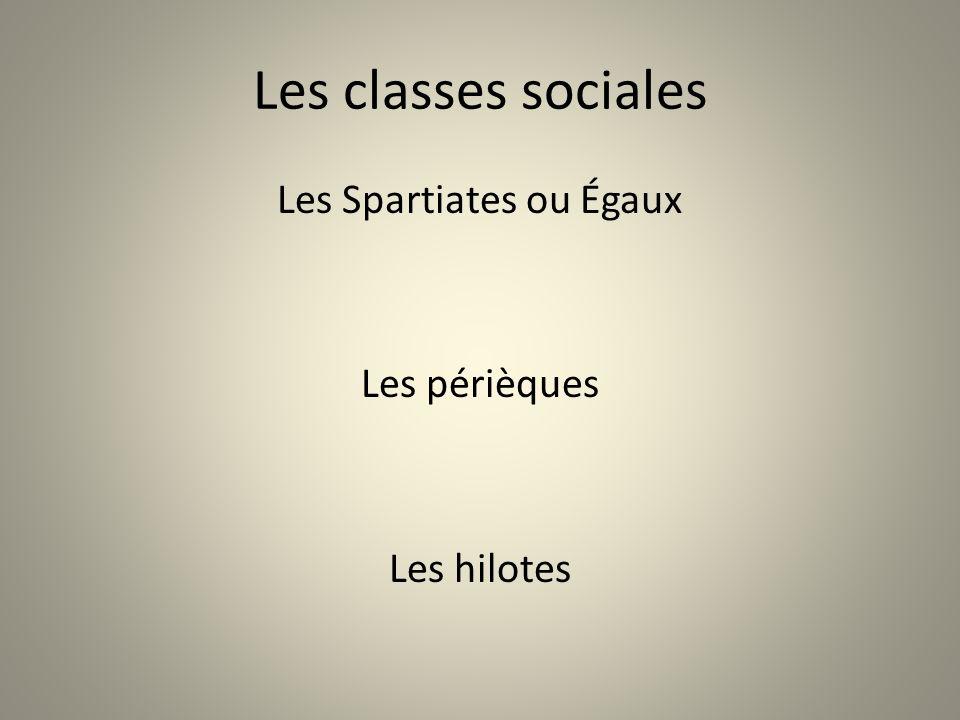 Les Spartiates ou Égaux