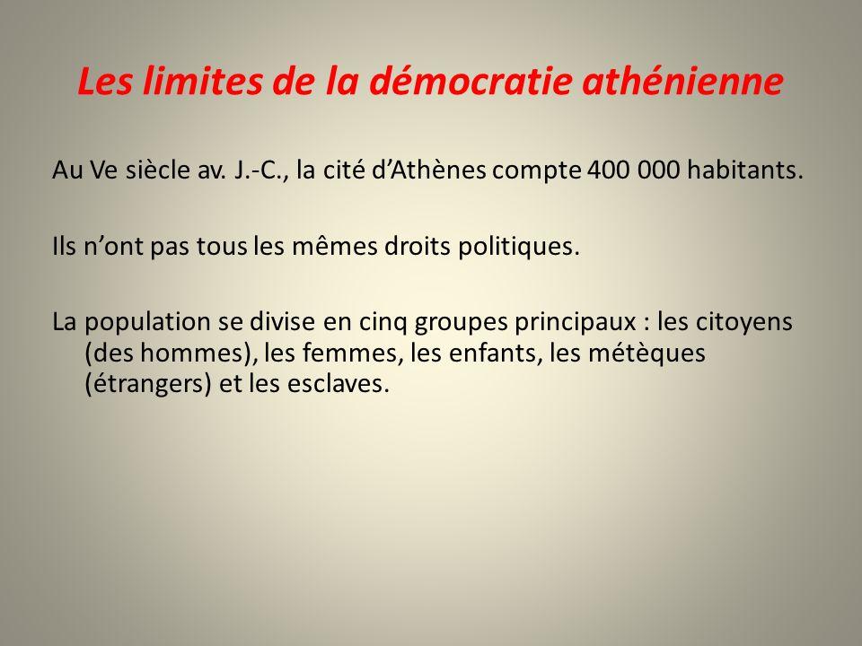 Les limites de la démocratie athénienne