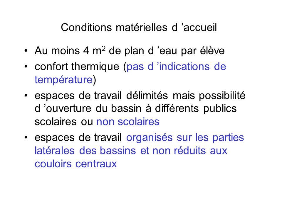 Conditions matérielles d 'accueil