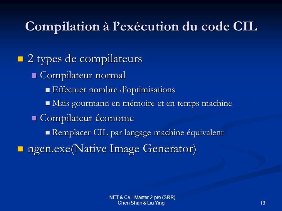 Compilation à l'exécution du code CIL
