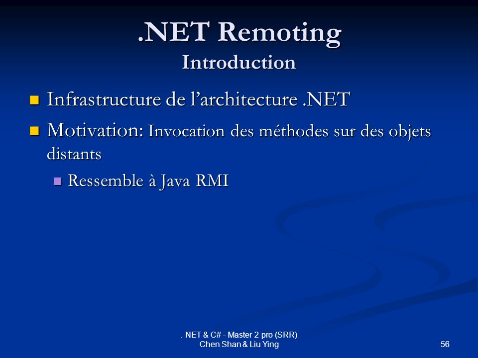 .NET Remoting Introduction
