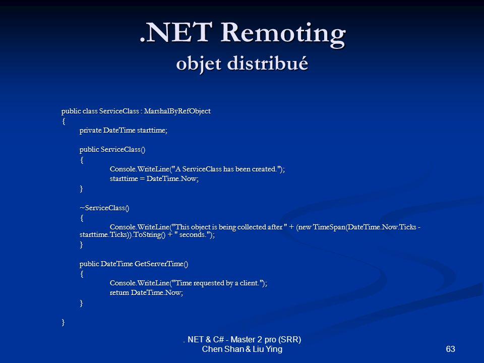 .NET Remoting objet distribué