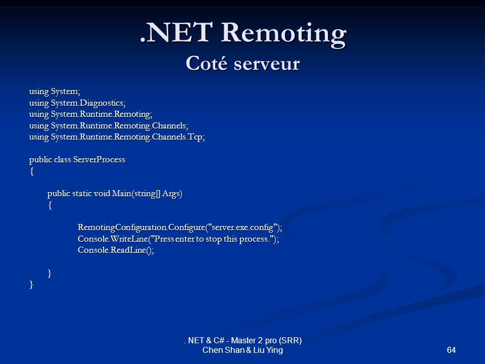 .NET Remoting Coté serveur