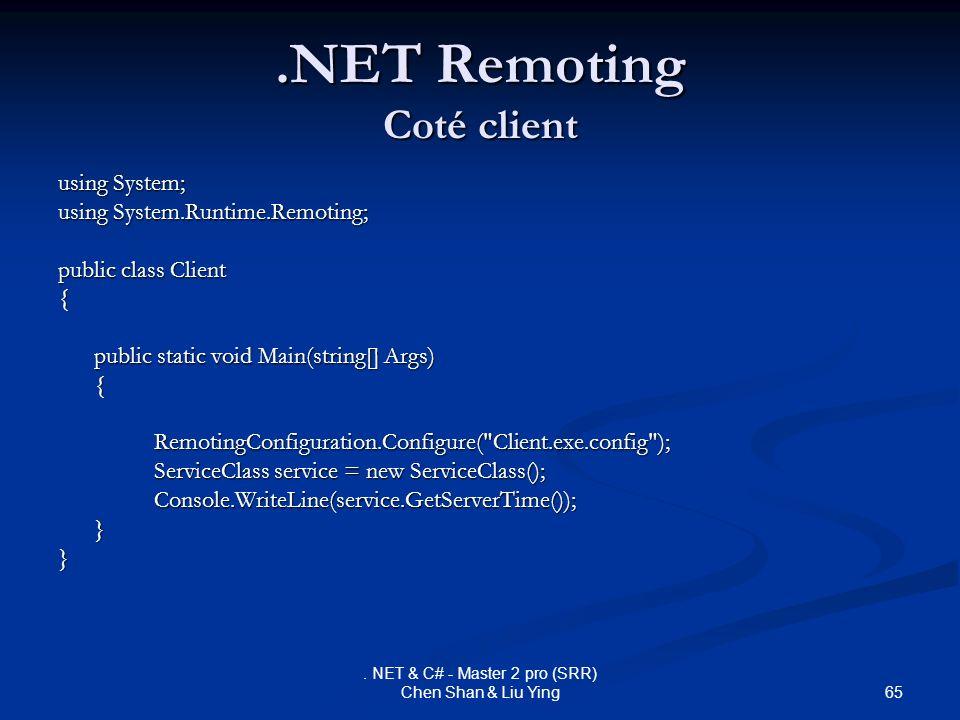 .NET Remoting Coté client