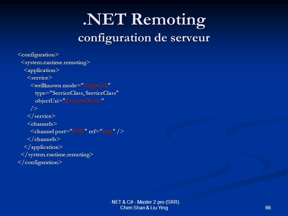 .NET Remoting configuration de serveur
