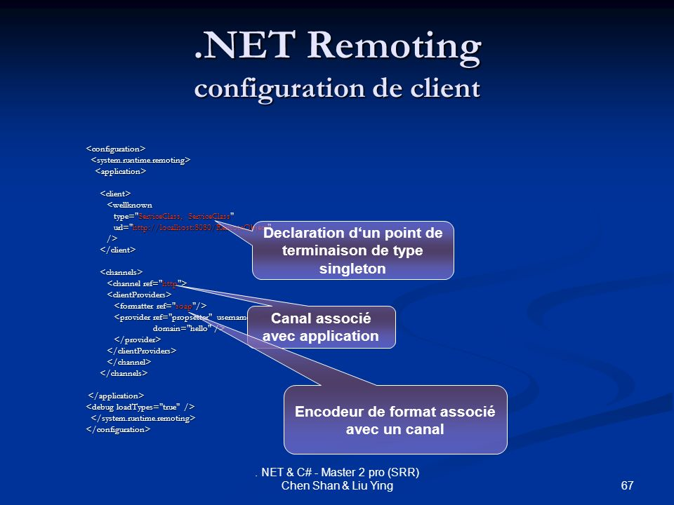 .NET Remoting configuration de client