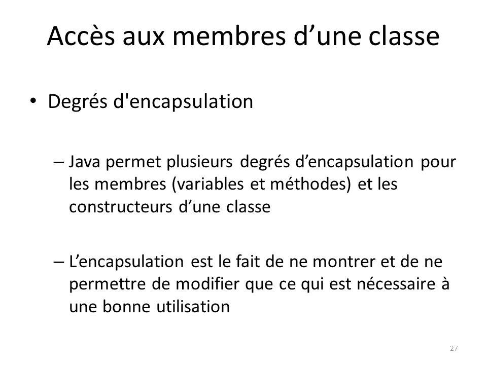 Accès aux membres d'une classe