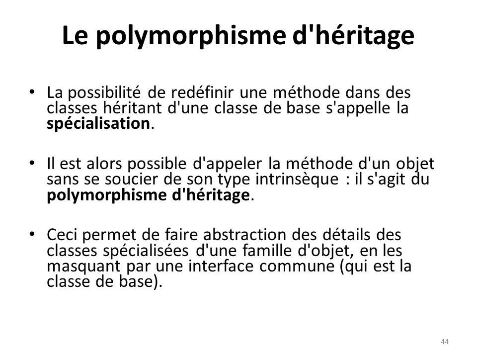 Le polymorphisme d héritage