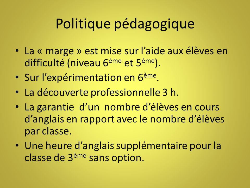 Politique pédagogique
