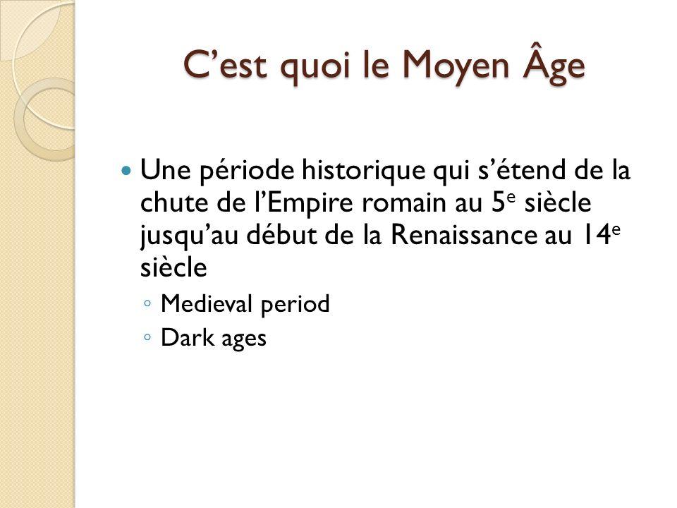 C'est quoi le Moyen Âge