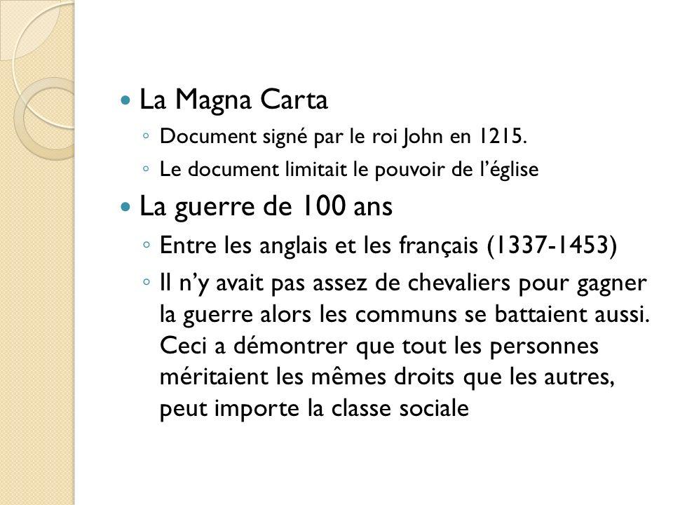 La Magna Carta La guerre de 100 ans