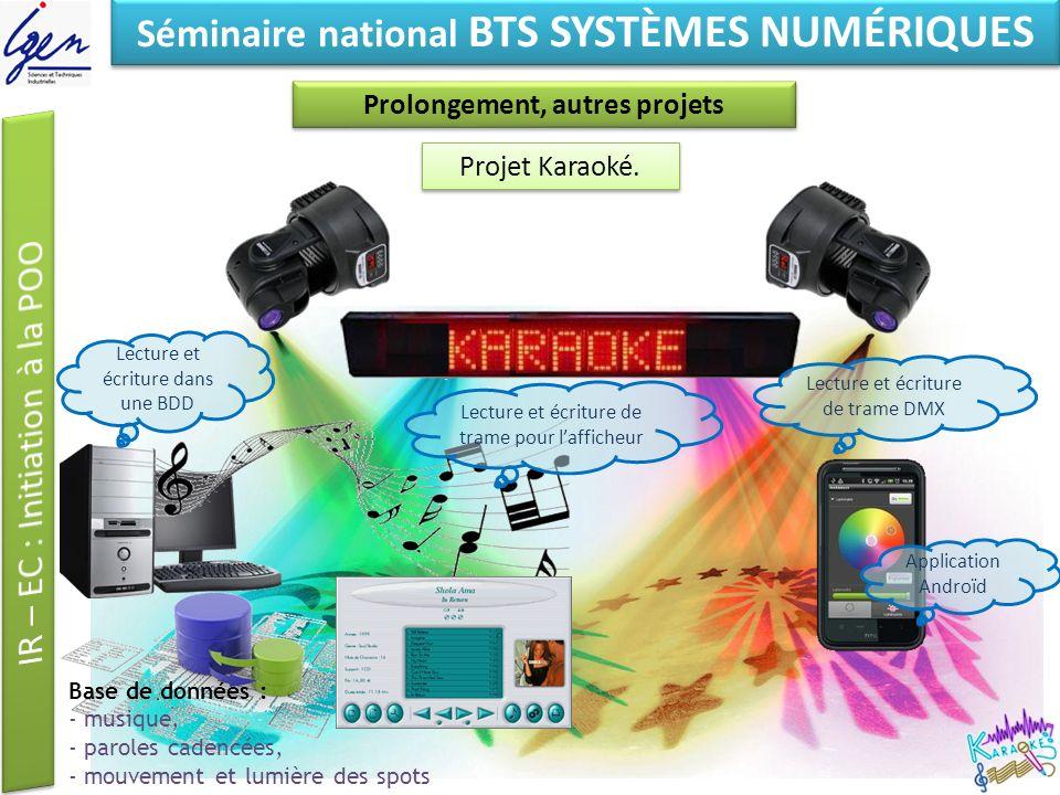 Eléments de constat Séminaire national BTS SYSTÈMES NUMÉRIQUES