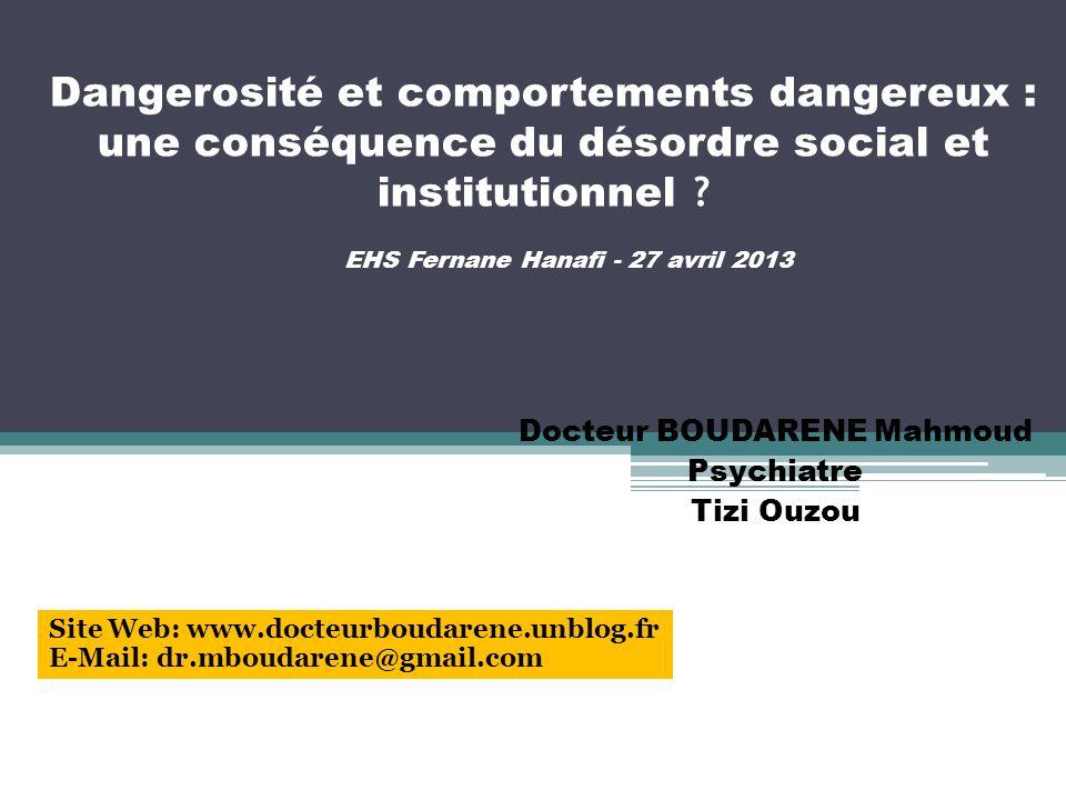 Docteur BOUDARENE Mahmoud Psychiatre Tizi Ouzou