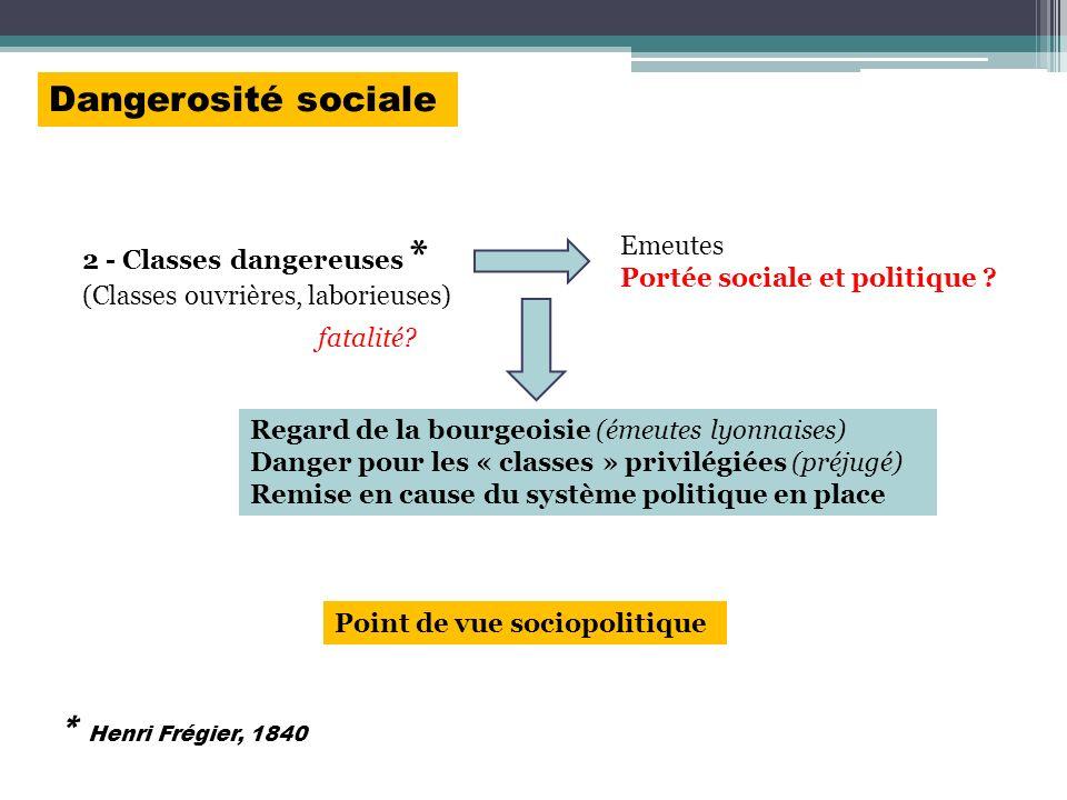 Dangerosité sociale * Henri Frégier, 1840 2 - Classes dangereuses *