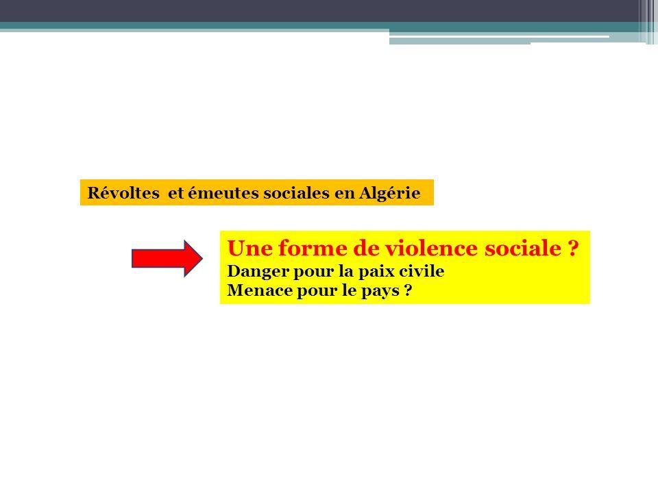 Une forme de violence sociale