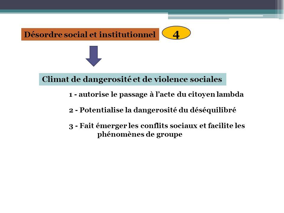 4 Désordre social et institutionnel