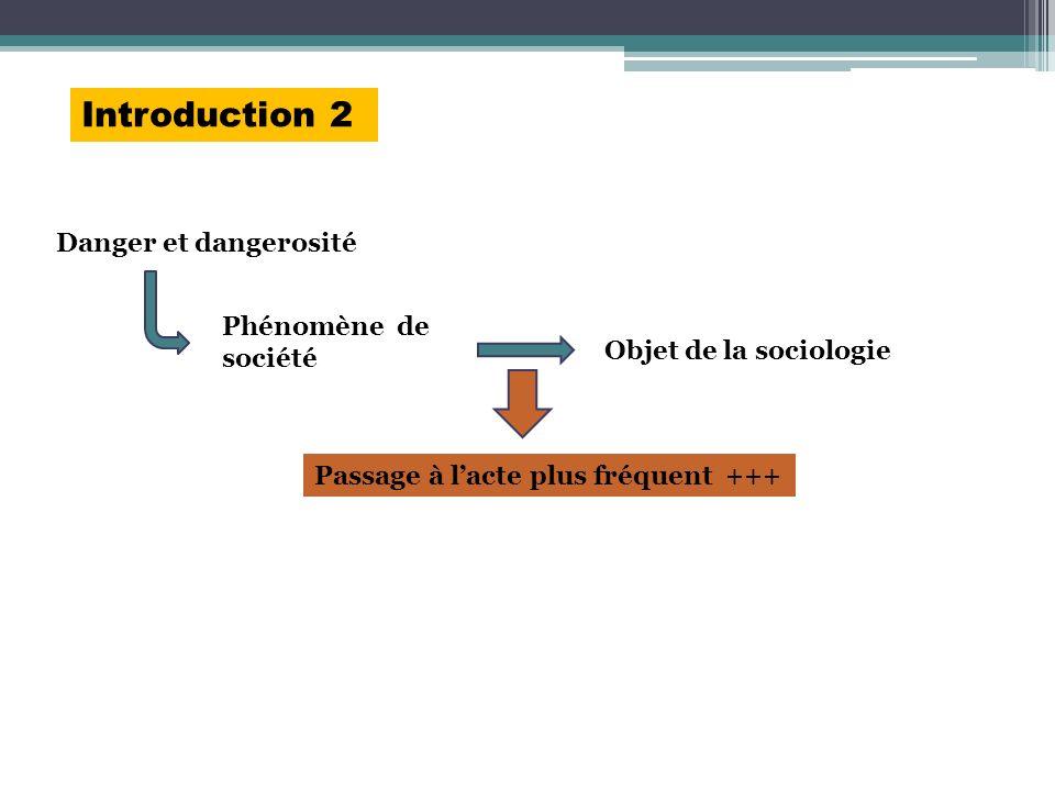 Introduction 2 Danger et dangerosité Phénomène de société