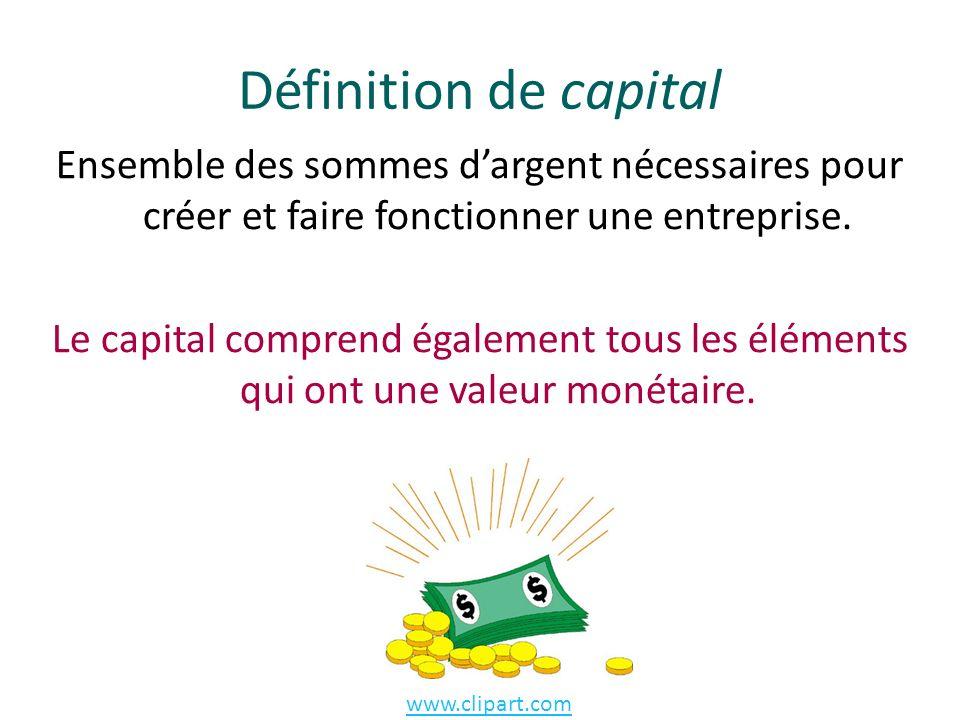 Définition de capital