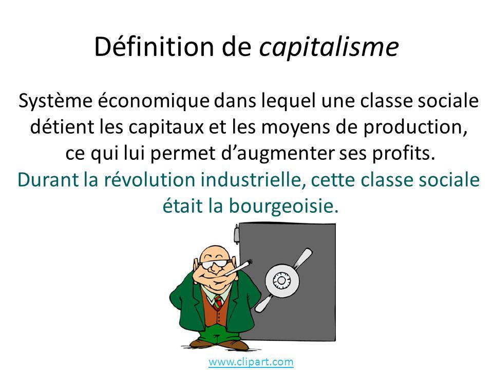 Définition de capitalisme