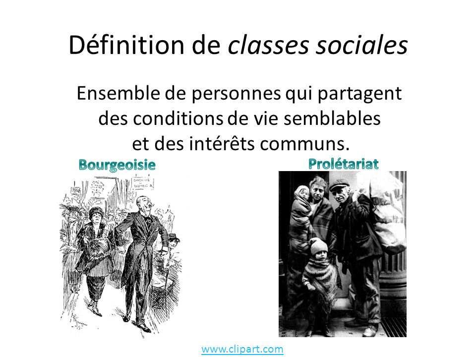 Définition de classes sociales