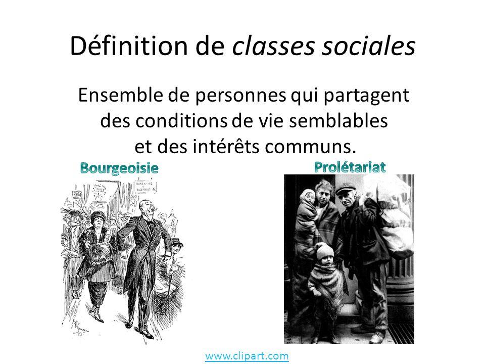 Définition de classes sociales