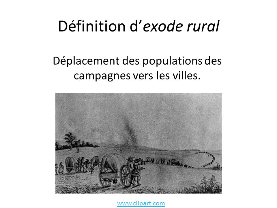 Définition d'exode rural