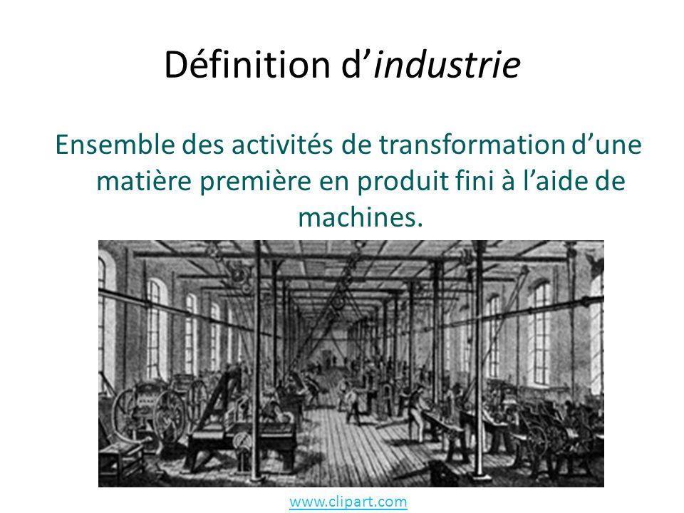Définition d'industrie