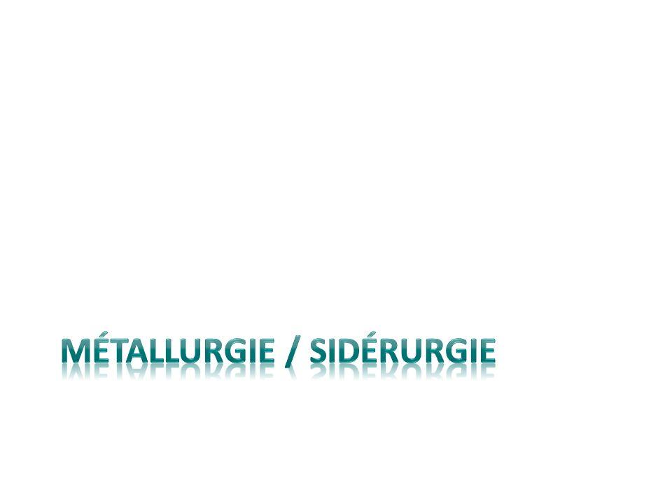 MÉTALLURGIE / SIDÉRURGIE