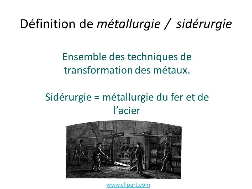 Définition de métallurgie / sidérurgie