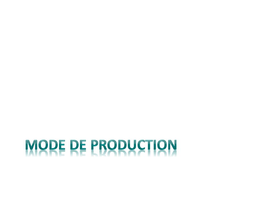 Mode de production