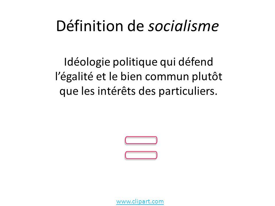 Définition de socialisme