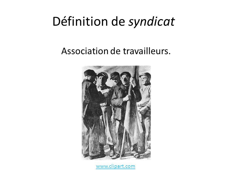 Définition de syndicat
