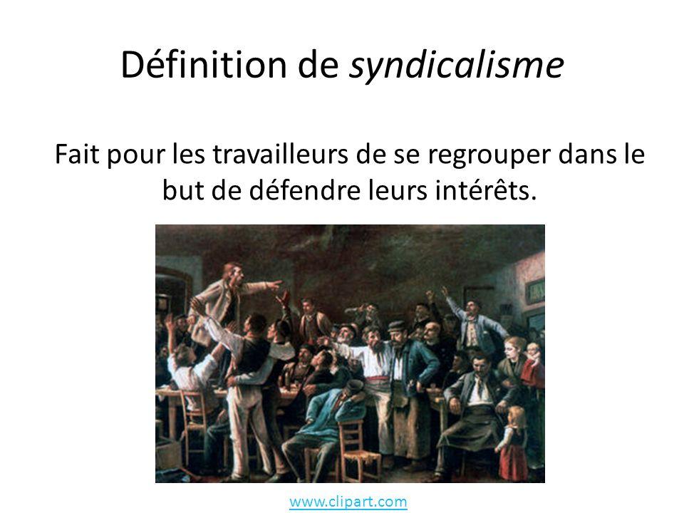 Définition de syndicalisme