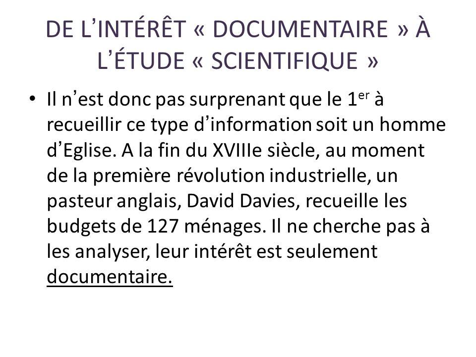 DE L'INTÉRÊT « DOCUMENTAIRE » À L'ÉTUDE « SCIENTIFIQUE »