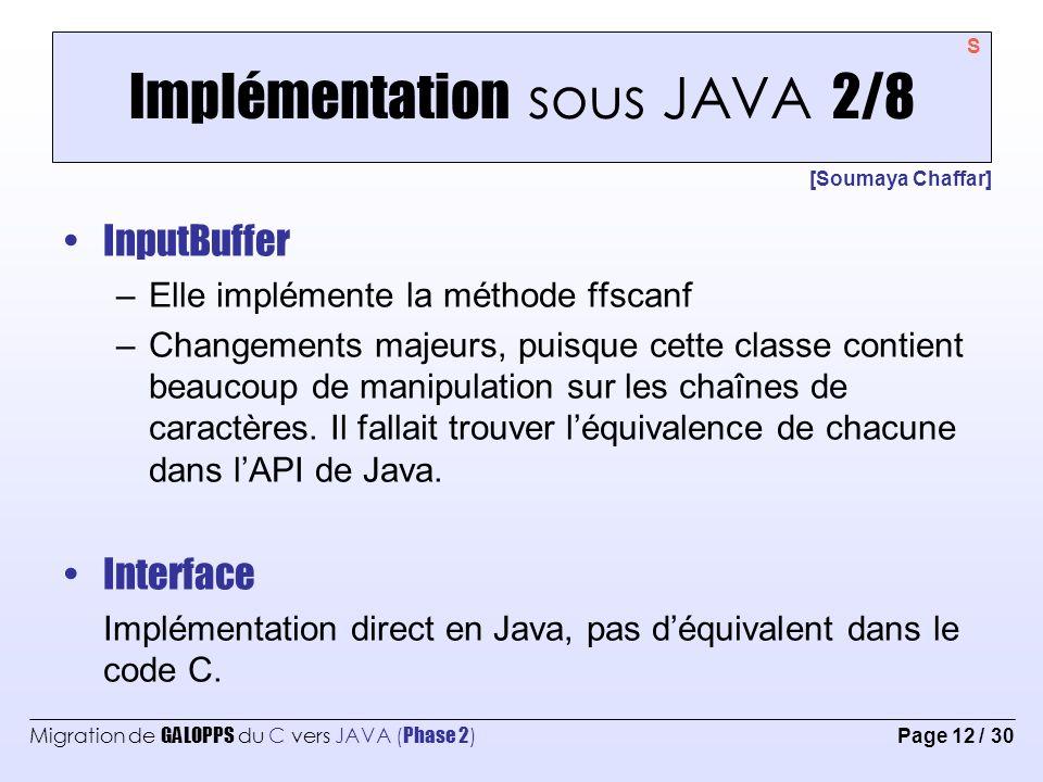 Implémentation sous JAVA 2/8