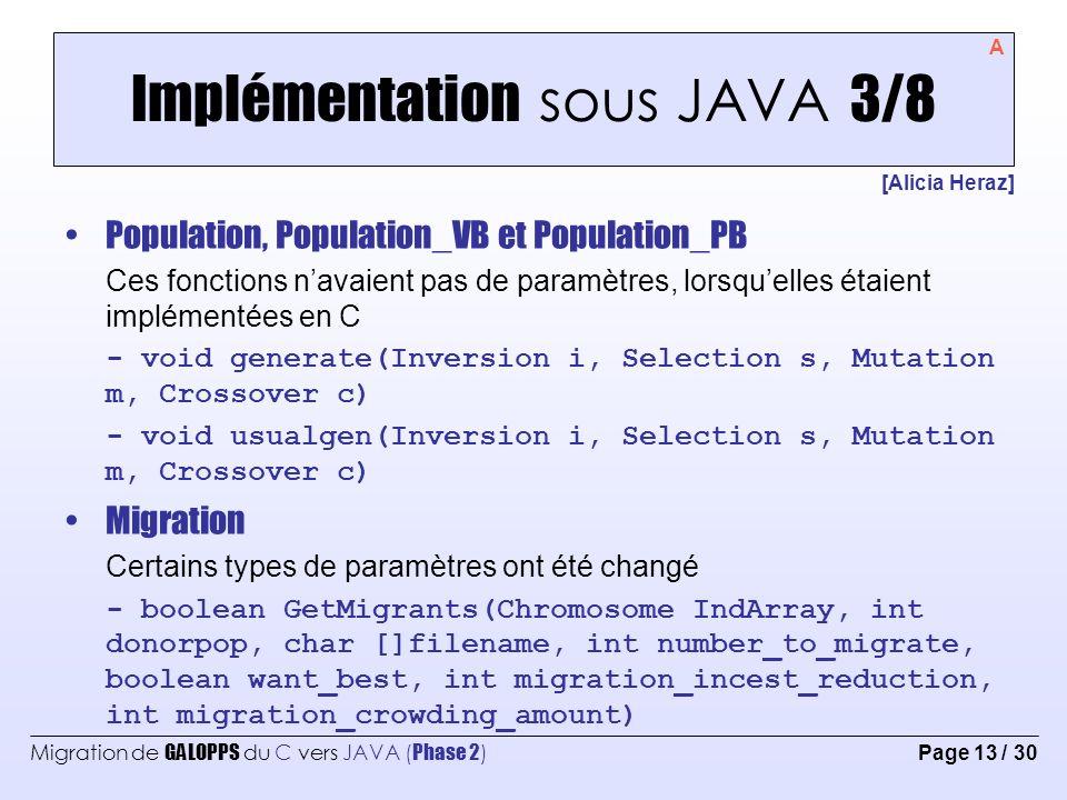 Implémentation sous JAVA 3/8